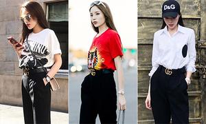 Kiểu quần yêu thích được Kỳ Duyên mặc 101 cách sành điệu