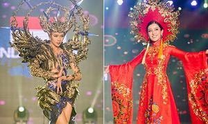 Quốc phục Đông Nam Á kín đáo đánh bại đồ Âu Mỹ hở bạo ở Hoa hậu Hòa bình thế giới