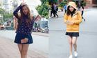 Nữ sinh Hà Nội mặc 'trên đông dưới hè' khi trời trở lạnh