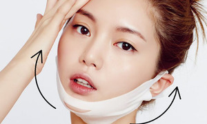 3 loại mặt nạ V-line hot nhất Hàn được quảng cáo đắp xong cằm thon thấy rõ
