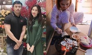 Sao Việt 22/10: Thu Thảo tái xuất cùng 'ông mai' sau đám cưới, Ngọc Trinh đảm đang vào bếp