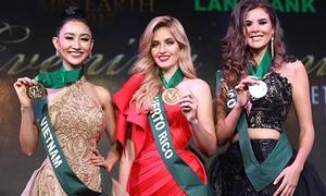 Hà Thu giành HC đồng phần thi trang phục dạ hội tại 'Hoa hậu Trái đất 2017'