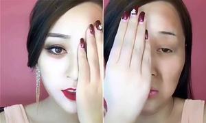 Clip trước sau makeup gây sốc của các hot girl Trung Quốc hút 15 triệu lượt xem