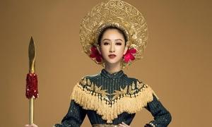 Trang phục nữ chiến binh của Hà Thu tại Hoa hậu Trái đất