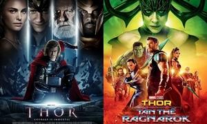 Poster màu mè của 'Thor' thay đổi như thế nào sau 3 phần?