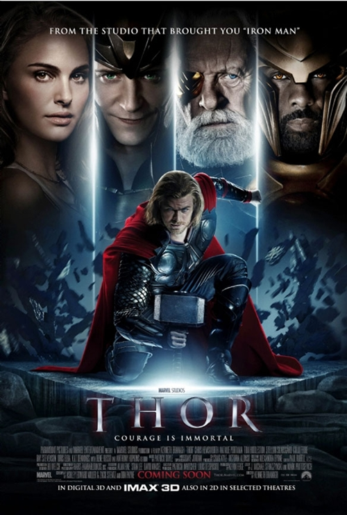 Poster Thor Courage Is Immortae.