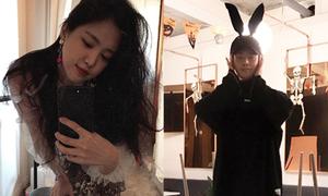 Sao Hàn 28/10: Lee Jong Suk đeo tai thỏ cute, Na Eun chụp thiếu sáng vẫn xinh