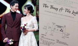 Sao Việt khoe thiệp được mời cưới của Song - Song 'y như thật'