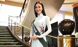 Hà Thu 'bắn' tiếng Anh như gió ở vòng thi phỏng vấn Miss Earth