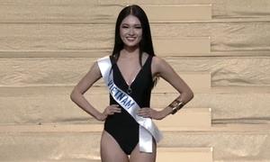 Thùy Dung khoe dáng với bikini ở chung kết Hoa hậu Quốc tế