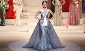 Thùy Dung trình diễn trang phục dạ hội ở chung kết Hoa hậu Quốc tế
