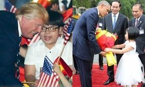Hai em bé tặng hoa, trò chuyện với Tổng thống Mỹ, Chủ tịch Trung Quốc là ai?