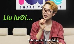 Hot boy Hàn xoắn lưỡi với thử thách nói tiếng Việt trúc trắc