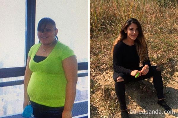 Chăm chỉ luyện tập, khả năng kiểm soát đồ ăn cao, giúp cô từ 101kg đã giảm xuống thành 65kg chỉ trong 2 năm.
