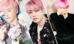 Những thần tượng nam để tóc hồng 'xinh' hơn sao nữ