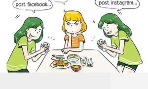 Tranh vui: Những kiểu bạn khó đỡ trên bàn ăn