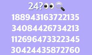 Mở to mắt, tìm kiếm con số 24