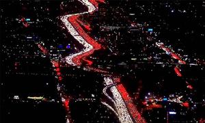 Cảnh tắc đường tuyệt đẹp tại Mỹ thu hút hàng triệu lượt xem