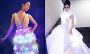 Những chiếc váy phát sáng đẹp ảo diệu của sao Việt
