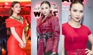 Loạt sao Việt 'nhuộm đỏ' tiệc mừng bom tấn Star Wars