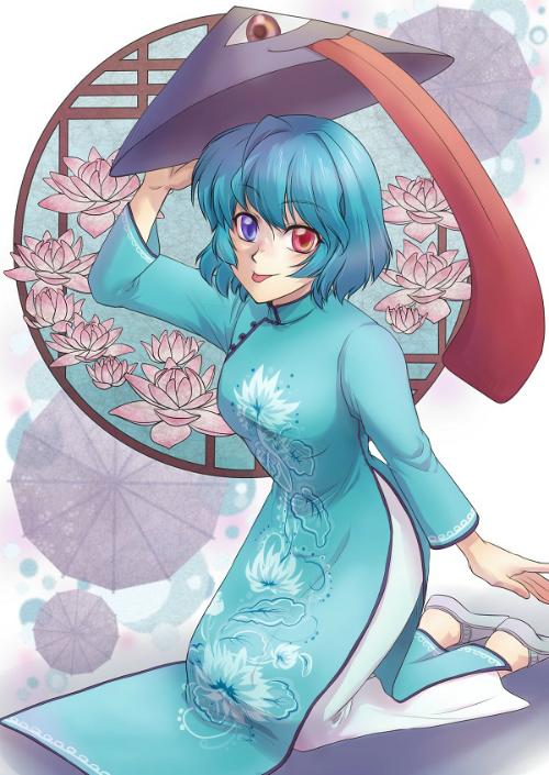 12-chom-sao-trong-ta-ao-dai-viet-phong-cach-anime