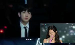 Khoảnh khắc 'fan boy' của Jung Kook (BTS) trước IU ở MMA 2017