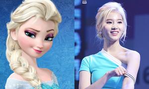 Sana (Twice) sở hữu nhan sắc giống loạt công chúa Disney