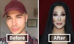 Chàng trai 'thích là biến thành người khác' nhờ tài make-up