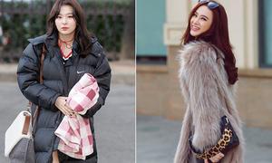 Khác biệt của sao Việt và sao Hàn khi chọn đồ đông