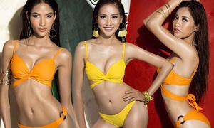 Ảnh bikini khoe dáng thon, eo săn của các thí sinh Hoa hậu Hoàn vũ