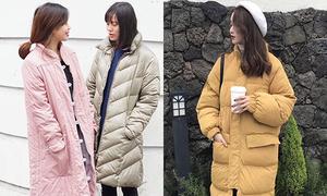 Mốt áo phao 'to như gấu' kiểu Hàn hot rầm rộ ở Việt Nam