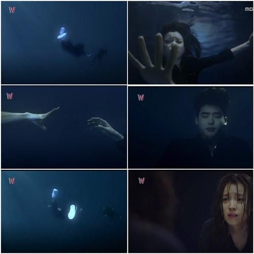 Cảnh ám ảnh nhất phim W  Two worlds là đoạn Kang Chul tự kết liễu cuộc đời mình.