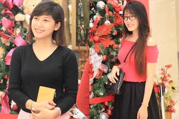 Girl xinh đổ xô xuống đường đêm Giáng sinh
