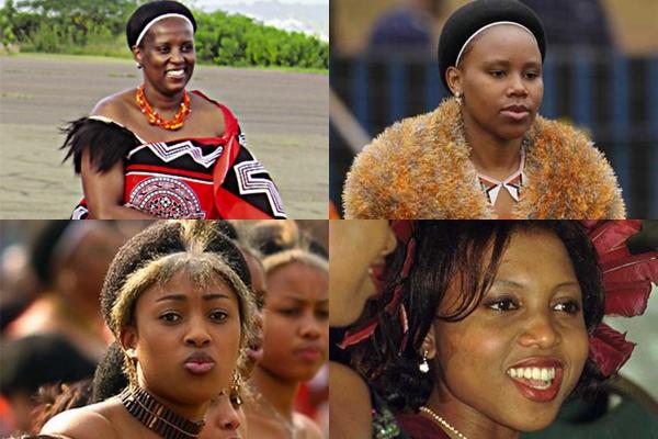 Một số người vợ của vua Mswati III.