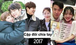 20 cặp sao Hàn chia tay khiến fan tiếc nuối năm 2017