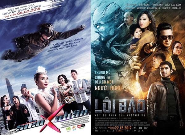 Poster Siêu nhân X (2015) và Lôi Báo (2017)