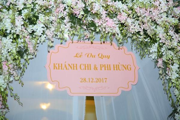Công tác chuẩn bị cho đám cưới tại nhà gái Lâm Khánh Chi.