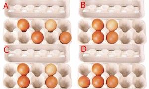 Chọn cách xếp trứng vào hộp để biết điểm mạnh của bản thân