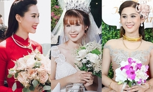6 cô dâu hot nhất showbiz Việt 2017