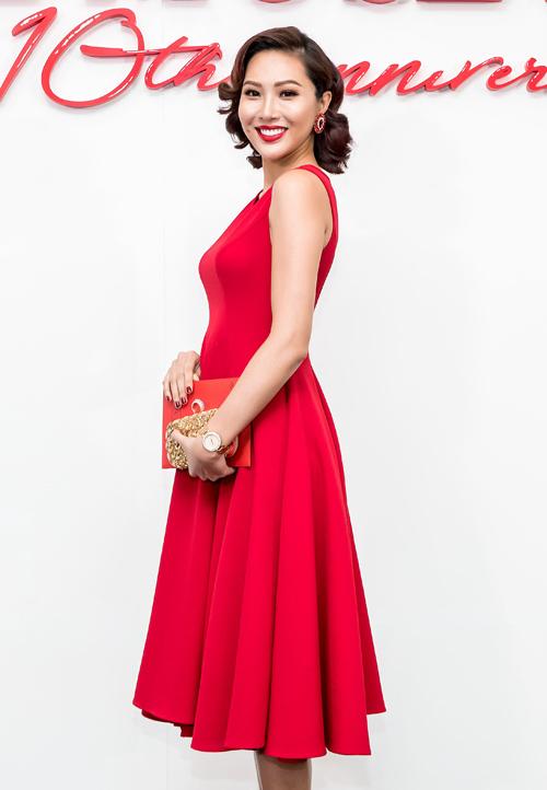 Dàn mỹ nhân Việt nhuộm đỏ show diễn 10 năm của Đỗ Mạnh Cường - 3
