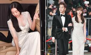 Kim Ji Won gợi cảm khi xuống xe, So Hyun đẹp đôi bên bạn diễn