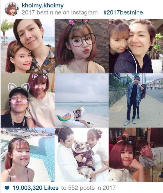 9 khoảnh khắc hot nhất 2017 trên Instagram sao Việt hơn 1 triệu fan