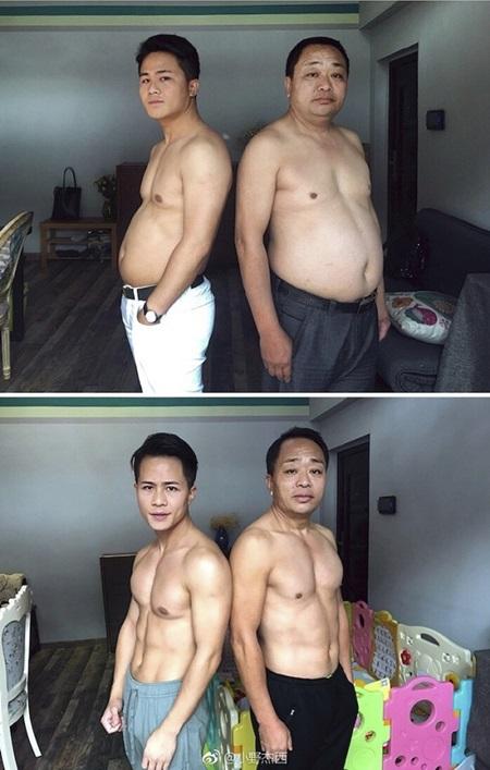 Cả gia đình tập gym và thay đổi ngoạn mục sau 6 tháng - 1