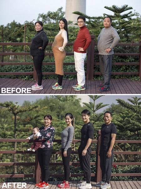 Cả gia đình tập gym và thay đổi ngoạn mục sau 6 tháng - 2