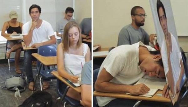 Muốn thoải mái ngủ gật trong lớp thì phải biết đầu tư thông minh.
