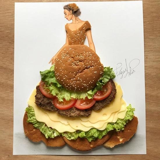Rau củ, bánh trái bỗng chốc hóa váy áo đẹp lung linh - 3