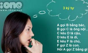 Đo chỉ số IQ của bạn qua những câu đố mẹo