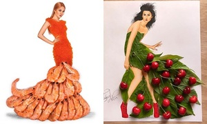 Rau củ, bánh trái bỗng chốc hóa váy áo đẹp lung linh