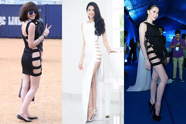 Thúy Vi lăng xê trở lại mốt váy bị ném đá nhiều nhất một thời - 2