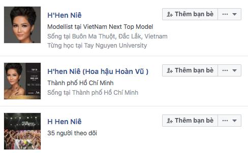 Nhiều tài khoản của Hoa hậu HHen Niê được lập ra nhưng tài khoản chính thức đã được khoá.